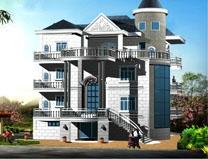 【永云别墅】AT100四层某岛上的豪华大型别墅全套施工图纸16mX20m