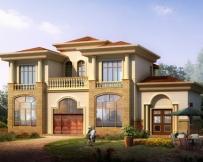 [新品]AT933豪华二层别墅带堂屋全套施工设计图纸17m×9m