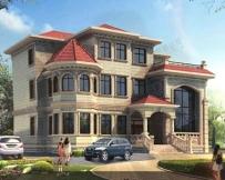 【永云别墅】AT826欧式三层复式豪华别墅全套设计施工图纸 16×13.7m