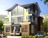 658三层小联排别墅全套设计图纸 14m×14m