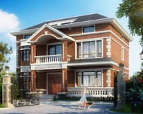 永云别墅AT207二层实应型别墅带阁楼房屋全套设计图纸12mx10.8m