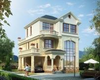 永云别墅AT209三层欧式简洁大露台别墅全套设计图纸9.9mx13.2m