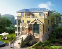 永云别墅AT236三层带架空层豪华楼中楼复式别墅设计图纸16.74mx12m