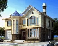 永云别墅AT215新农村二层欧式豪华别墅建筑设计图纸12.5mx12m