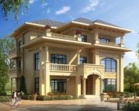 永云别墅AT1647三层豪华大气欧式别墅建筑施工图纸13mx12.5m