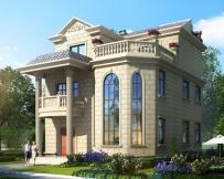 永云别墅AT1643新农村自建房两间三层小别墅设计图纸9.8mx11.5m