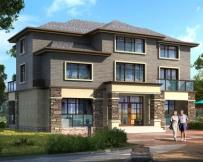 永云别墅AT1695二层半法式复古风格别墅建筑图纸14.5mx10.7m