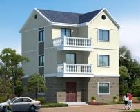 AT1777三层简洁实用农村自建房屋设计全套施工图纸7.7mX10.8m